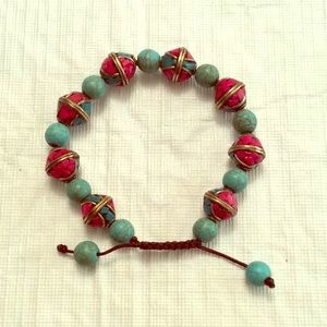 Jewelry - Traditional Tibetan and Turquoise Bead Bracelet